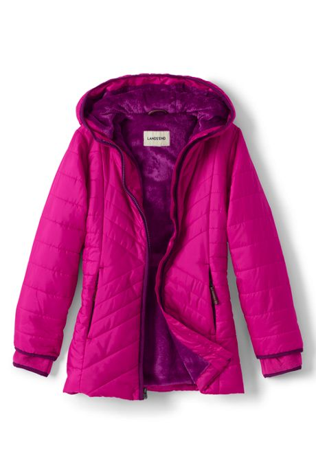 Girls Primaloft Fleece Lined Parka