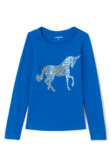Girls' Long Sleeve Novelty Graphic Tee