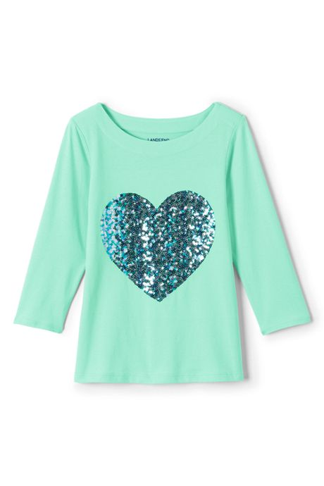 Little Girls Embellished Graphic Knit Tee