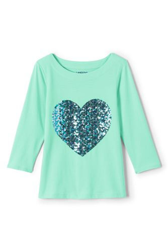 Little Girls' ¾-Sleeve Embellished Graphic Tee
