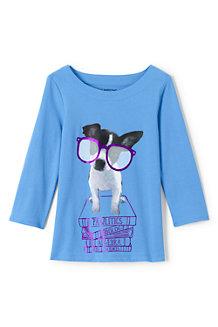 Grafik-Shirt mit U-Boot-Ausschnitt für Mädchen