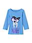 Grafik-Shirt mit U-Boot-Ausschnitt für kleine Mädchen