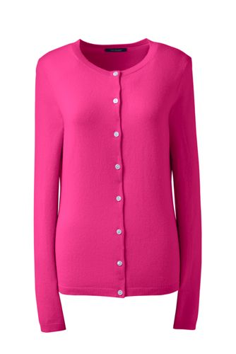 Women's Regular Classic Cashmere Crew Neck Cardigan