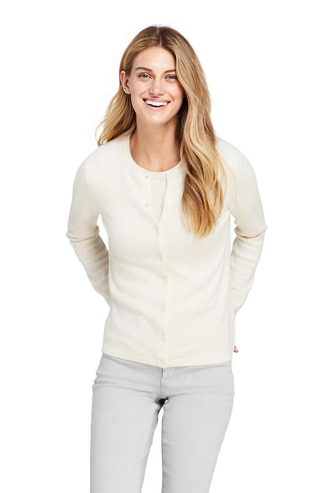 Women's Cashmere Cardigan Sweater, Front