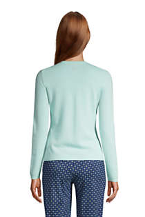 Women's Cashmere Cardigan Sweater, Back