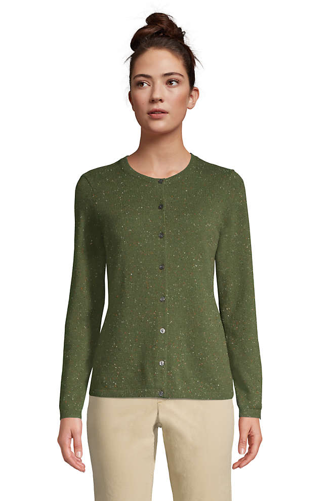 Women's Tall Classic Cashmere Cardigan Sweater, Front