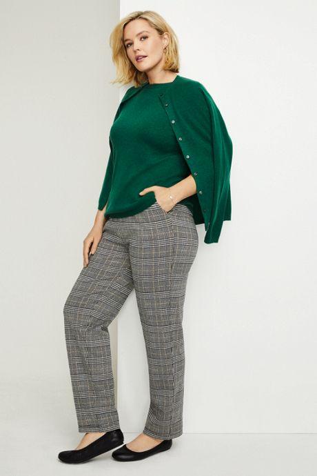 Women's Plus Size Cashmere Cardigan Sweater