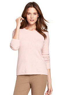 Women's Cashmere Open Crew Neck Jumper