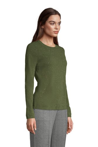 Women's Petite Cashmere Crewneck Sweater