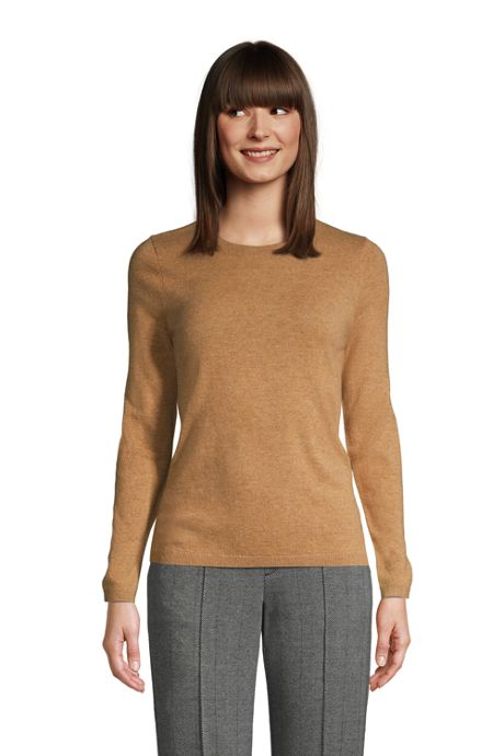 Women's Petite Cashmere Crewneck Sweater