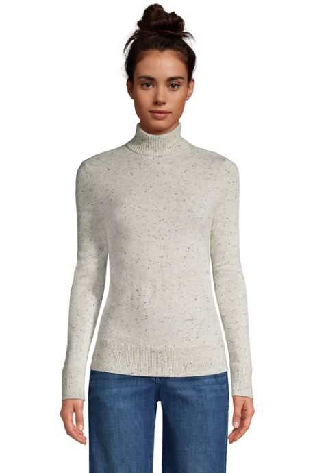Women's Petite Cashmere Turtleneck Sweater