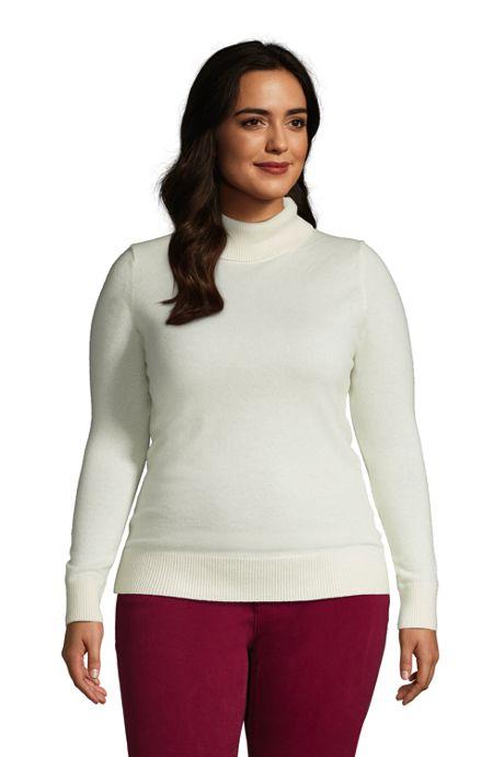Women's Plus Size Cashmere Turtleneck Sweater