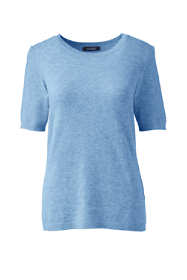 Women's Cashmere Short Sleeve Crewneck Sweater