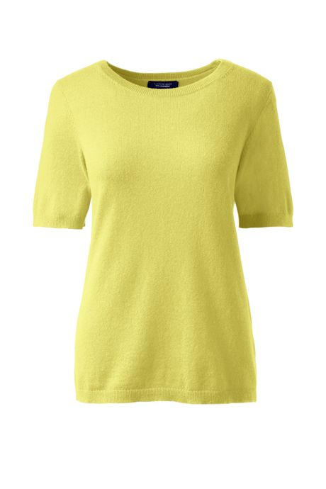 Women's Short Sleeve Cashmere Sweater