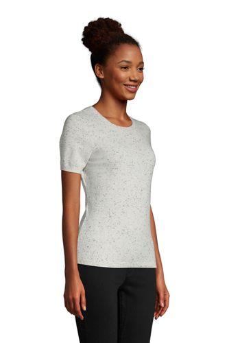 Women's Cashmere Short Sleeve Crewneck Sweater