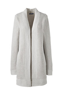 Women's Cotton Blend Long Shaker Cardigan