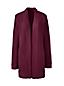 Le Cardigan Long Ouvert en Côtes Perlées, Femme Stature Standard