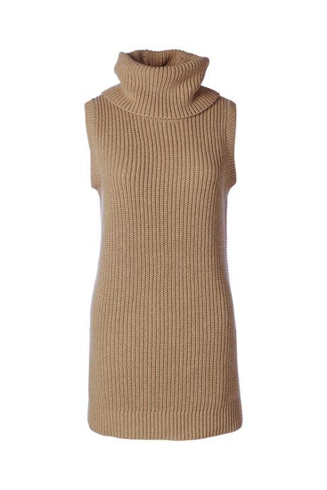 Women's Petite Shaker Cowl Sweater Vest