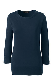 Women's Fine Gauge Supima Crew Neck Jumper