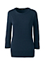 Women's Regular Three-quarter Sleeve Fine Gauge Supima Crew Neck Jumper