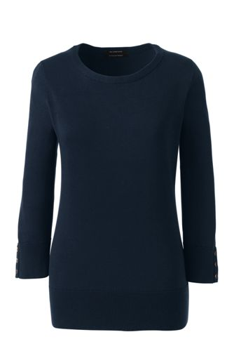 Women's Regular Fine Gauge Supima Crew Neck Jumper