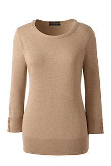 Le Pull Supima® Manches 3/4, Femme