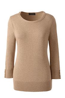 Supima Feinstrick-Pullover für Damen