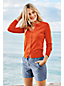 Women's Regular Plain Fine Gauge Supima® Long Sleeve Crew Neck Cardigan