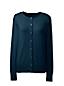 Women's Regular Plain Fine Gauge Supima® Long Sleeve Crew Neck Cardigan