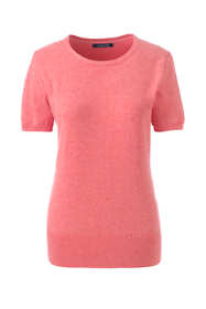 Women's Plus Size Supima Cotton Short Sleeve Sweater