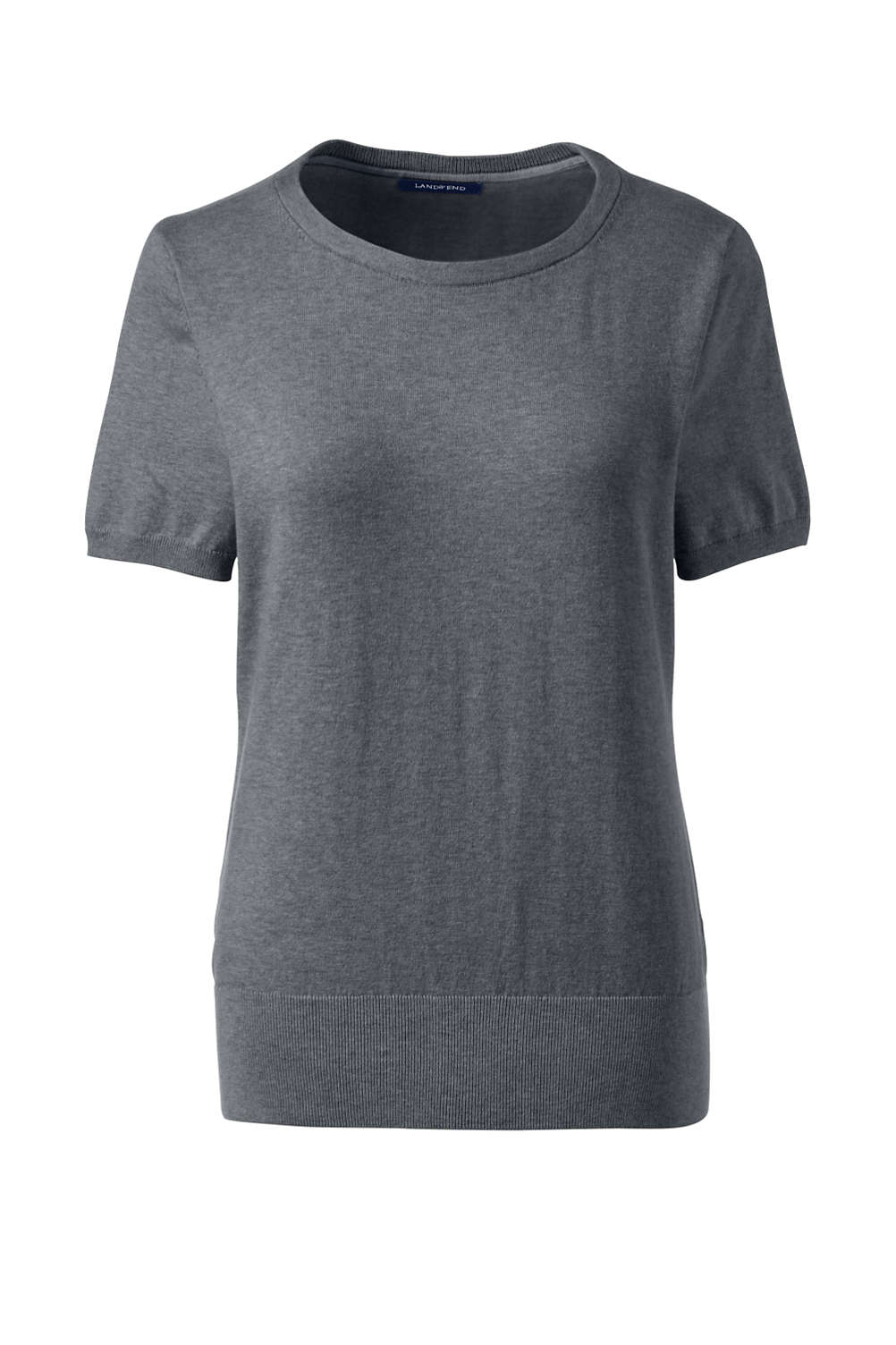 4f1d4aacb5 Women s Short Sleeve Supima Sweater from Lands  End