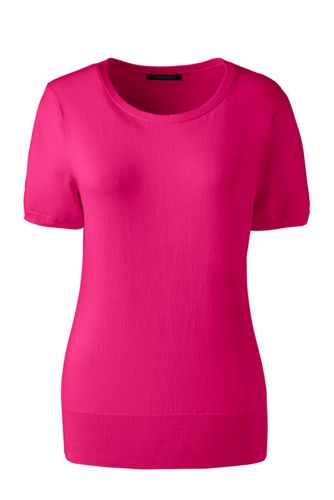 Women's Short Sleeve Supima Sweater from Lands' End