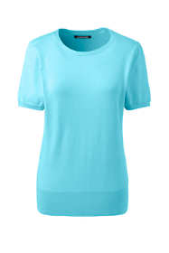 Women's Tall Supima Cotton Short Sleeve Sweater