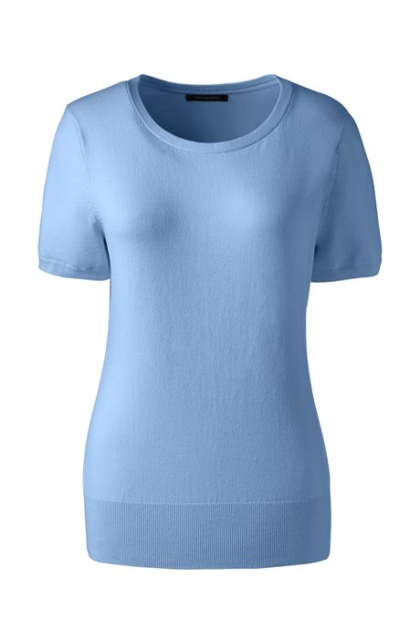 Women's Short Sleeve Supima Sweater