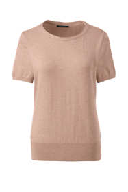 Women's Supima Cotton Short Sleeve Sweater