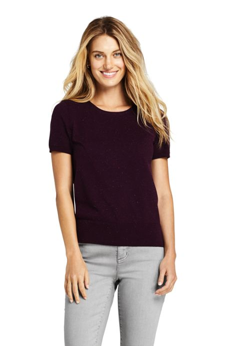 Women's Supima Cotton Short Sleeve Crewneck Sweater