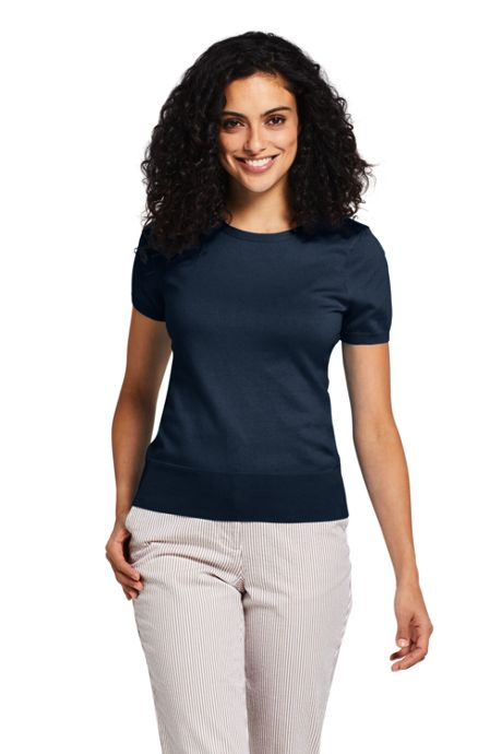 Women's Tall Short Sleeve Supima Sweater