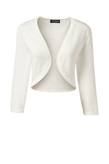 Women's Fine Gauge Supima 3-quarter Sleeve Bolero