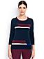 Supima Feinstrick-Pullover mit geometrischem Muster für Damen