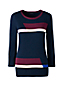 Women's Regular Fine Gauge Supima Colourblock Crew Neck Jumper