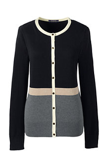 Le Cardigan Supima® Manches Longues, Femme Stature Standard