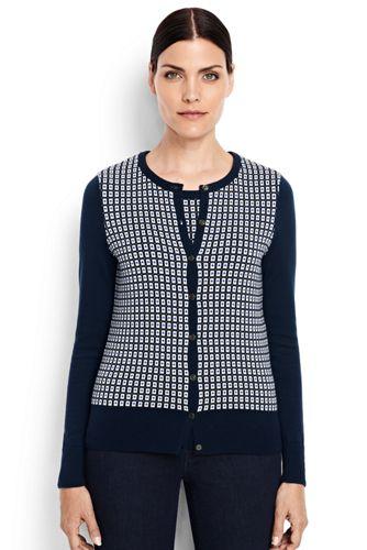 Le Cardigan Supima® Texturé, Femme Stature Standard