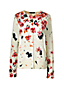 Women's Regular Fine Gauge Supima® Patterned Crew Neck Cardigan