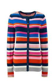 Women's Supima Stripe Cardigan Sweater