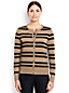 Women's Regular Fine Gauge Supima® Striped Crew Neck Cardigan