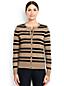 Women's Regular Fine Gauge Supima® Striped Crew Neck Cardigan