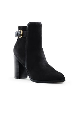 Women's Side-buckle Suede Ankle Boots