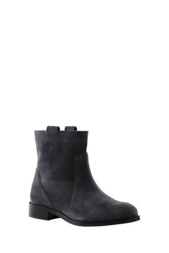 Women's Pull-on Suede Ankle Boots