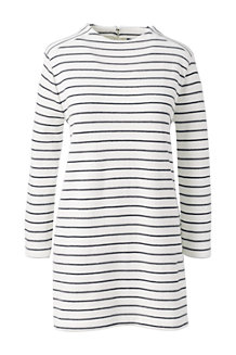 Women's Starfish Stripe Funnel Neck Tunic