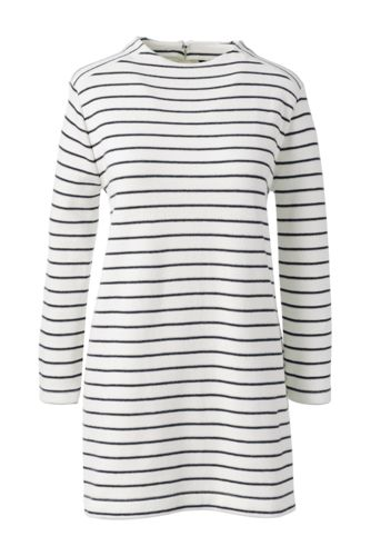 Women's Regular Starfish Stripe Funnel Neck Tunic